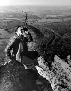 Rachel Carson, birding at Hawk Mountain Sanctuary