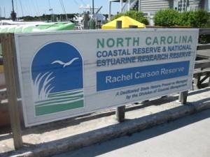Rachel Carson sign at Beaufort