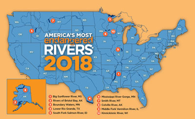 map of endangered rivers