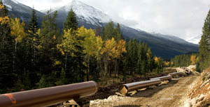 Image of pipeline in canada