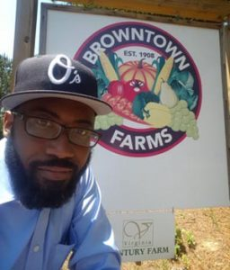 Image of Heber Brown of Browntown Farms which offers fresh, affordable food