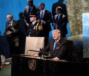 Donal Trump at the UN