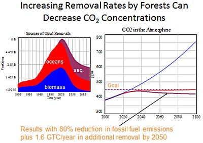 Increasing CO2 removal rates chart