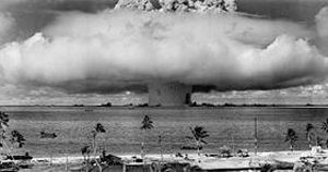 "Operation Crossroads' underwater ""Baker"" nuclear test at Bikini Atoll"