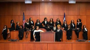 image of entirely female, African American set of seventeen county judges