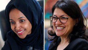 image of Ilhar Omar of Minnesota and Rashida Tlaib