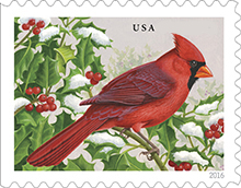 image of Cardinal postage stamp