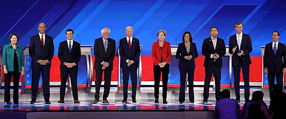 Image of the 10 Democratic candidates
