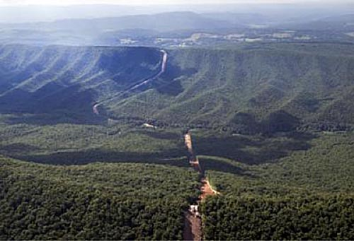 Image of the Mountain Valley pipeline