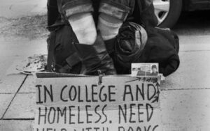 Image of homeless student