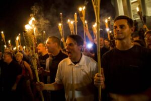 image of neonazis marching
