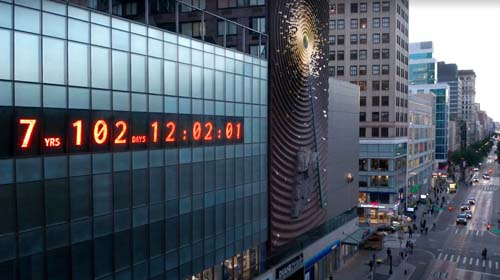 image of the climate clock